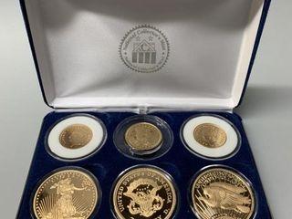 US  Copy  6 Piece Gold Coin Set