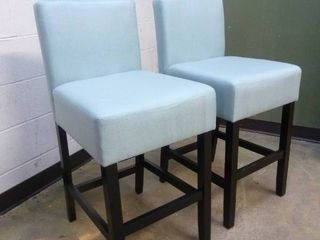 PAIR of Tealish Counter Height Chairs