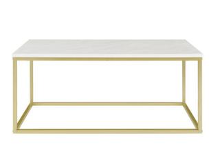 Carbon loft 42  Geller Open Box Coffee Table   White Marble Gold