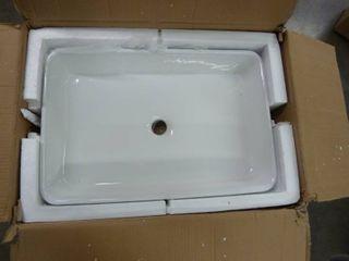 24 x16  Rectangle Ceramic Bathroom Vessel   WHITE