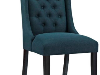 Mpdway Baronet Upholstered Dining Side Chair in Azure  H2