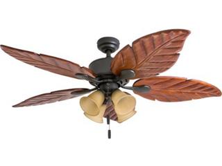 Honeywell 52  Royal Palm Bronzer Tropical 4 light Ceiling Fan