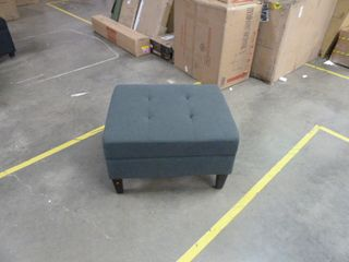 Noble House Home Furnishings Polyester Storage Ottoman   Dark Gray Fabric