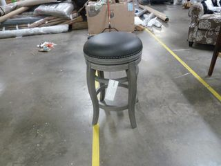 Single Copper Grove Studded Backless Barstool   Gray and Black