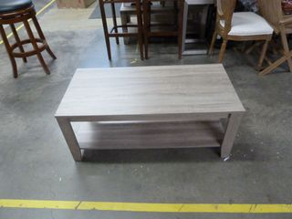 Single Indoor and Outdoor Wood Coffee Table
