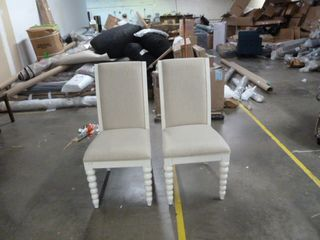 Pair of Knobbed legged Dining Chairs   Set of 2