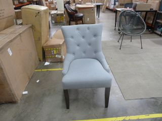 Single Tufted Grey Dining Chair