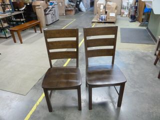 Pair of Brown Peek a Boo Dining Chairs   Set of 2
