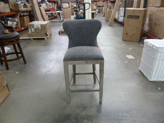 Single Suede Studded Dining Chair