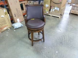 Norval Bar and Counter Swivel Stool Seat Height   Brown and Black