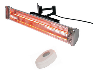 Hiland Wall Mounted Electric Patio Heater w  Remote Control