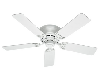 Hunter 52  low Profile 5 Blade Ceiling Fan   WHITE FINISH