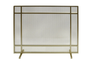 Cabarrus Modern Single Panel Fireplace Screen   GOlD
