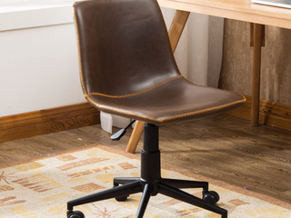Cesena Faux leather 360 Swivel Air lyft Office Chair   BROWN
