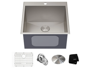 KRAUS Standart PRO Stainless Steel Top Mount Drop In Kitchen Sink