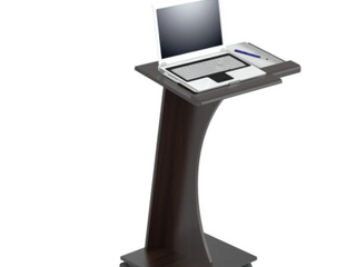 Inval Rolling laptop Cart MDF Wood   Espresso
