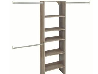 SuiteSymphony 25  W Closet System Starter   GRAPHITE GREY