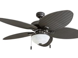 Honeywell 52  Island Breeze Outdoor Ceiling Fan   Bronze Finish w  White Scavo Closed Bowl