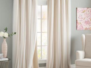 Set of Brockham Solid Room Darkening Grommet Curtain Panel   Set of 2