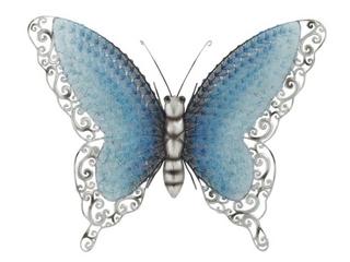 Coppergrove Iris Blue Metal Butterfly   MUlTI BlUE