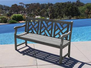 Siesta Grey Garden Bench