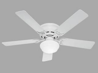 Hunter 52  low Profile Ceiling Fan   WHITE FINISH