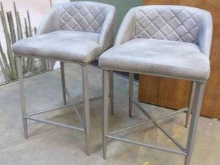 Pair of Very Nice Grey Barstools