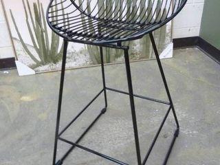 Black Wire Contemporary Barstool