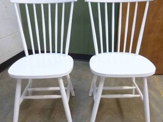 PAIR of White Dining Chairs