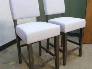 PAIR of Grey Counter Height Chairs
