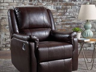 Jennette Faux leather Swivel Gliding Recliner by Christopher Knight Home  Retail 435 49