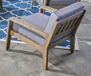 Grenada Outdoor Acacia Wood Club Chair by Christopher Knight Home  Retail 1474 49