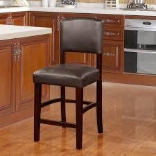 Copper Grove Falesti Espresso Counter Stool with Black Vinyl Upholstery  Retail 104 99