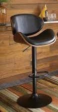Strick   Bolton Harley Adjustable Height Matte Black Bar Stool  Retail 115 99