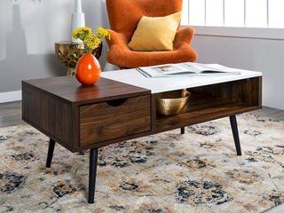 Carson Carrington Saltaro Faux Marble Top Coffee Table  Retail 191 99