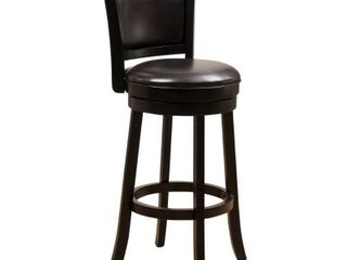 Mallik 43 inch Bonded leather Swivel Backed Bar Stool by Christopher Knight Home  Retail 118 99 black