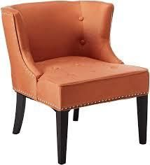 christopher knight home adelina fabric chair orange