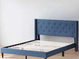 Brookside Bella Button Tufted Wingback Upholstered Bed  Retail 281 99 queen navy