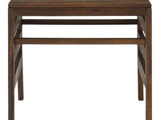 Modular Outdoor Acacia Side Table   Dark Brown