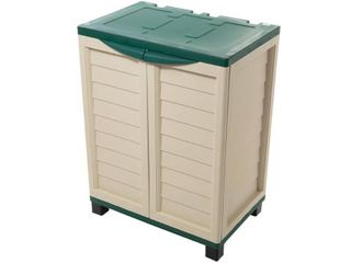 Cabinet with 2 shelves  Beige Green   Retail 105 00