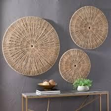 the curated nomad terraxa woven seagrass 3 pc wall decor set