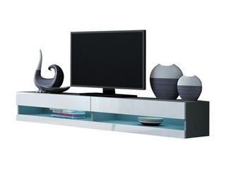Vigo 180 Wall Mounted Floating 71  TV Stand with 16 Color lEDs  Retail 407 49