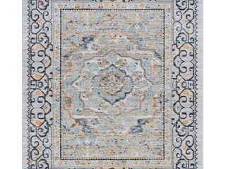 Tayse JSM42810 Veriana 6 3 4  X 10 1 4  Polypropylene Traditional Rectangle Area Rug From