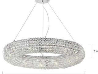 Silver Orchid Puffy Chrome 12 light Crystal Chandelier  Retail 718 99