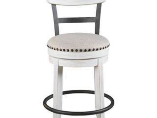 Valebeck Upholstered Swivel Counter Height Barstool White   Signature Design by Ashley