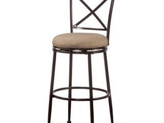 Hillsdale Furniture Pullman Indoor Outdoor Swivel Counter Stool in Satin Beige Finish  Retail 199 00