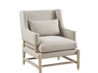Madison Park Freed light Grey Accent Chair  Retail 332 99