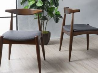 Francie Mid Century Modern Dining Chair Set of 2 by Christopher Knight Home  Retail 566 99