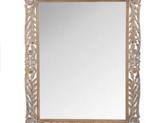 Gedney Traditional Mirror with Floral Carved Frame by Christopher Knight Home   37 00  W x 1 30  l x 46 50  H  Retail 266 49
