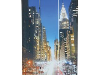 Truly New York 3 panel Wooden Downtown Scene Screen  Retail 125 99